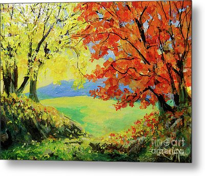Metal Print featuring the painting Nixon's Colorful View Of The Blue Ridge by Lee Nixon