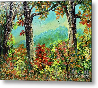 Metal Print featuring the painting Nixon's Glorious Colors Of Fall by Lee Nixon