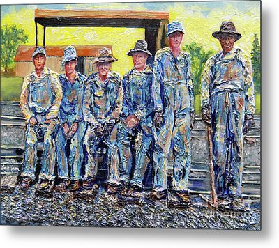 Metal Print featuring the painting Nixon's Keepers Of The Railroad by Lee Nixon