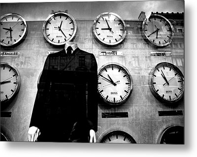 No Head For Time Man Metal Print