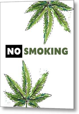 No Smoking - Art By Linda Woods Metal Print