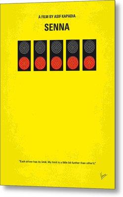No075 My Senna Minimal Movie Poster Metal Print by Chungkong Art