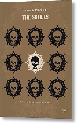 No662 My The Skulls Minimal Movie Poster Metal Print