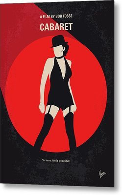 No742 My Cabaret Minimal Movie Poster Metal Print