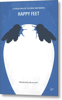 No744 My Happy Feet Minimal Movie Poster Metal Print by Chungkong Art