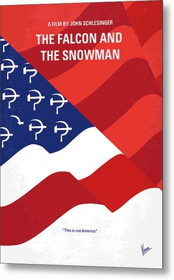 Metal Print featuring the digital art No749 My The Falcon And The Snowman Minimal Movie Poster by Chungkong Art