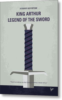 Metal Print featuring the digital art No751 My King Arthur Legend Of The Sword Minimal Movie Poster by Chungkong Art