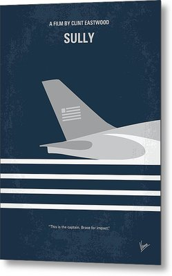 Metal Print featuring the digital art No754 My Sully Minimal Movie Poster by Chungkong Art