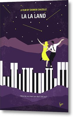 No756 My La La Land Minimal Movie Poster Metal Print by Chungkong Art