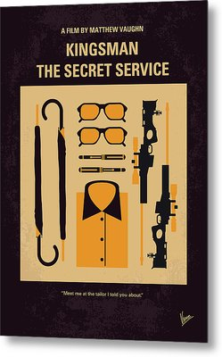 Metal Print featuring the digital art No758 My Kingsman Minimal Movie Poster by Chungkong Art