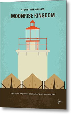Metal Print featuring the digital art No760 My Moonrise Kingdom Minimal Movie Poster by Chungkong Art