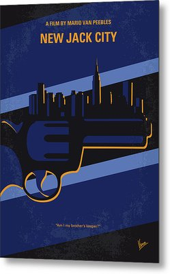 Metal Print featuring the digital art No762 My New Jack City Minimal Movie Poster by Chungkong Art