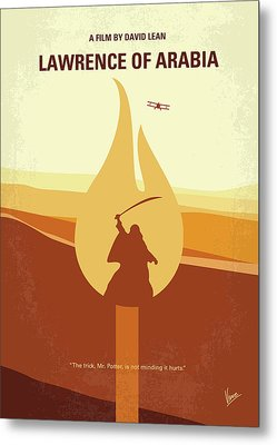 No772 My Lawrence Of Arabia Minimal Movie Poster Metal Print by Chungkong Art
