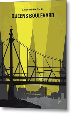 No776 My Queens Boulevard Minimal Movie Poster Metal Print by Chungkong Art