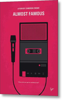 No781 My Almost Famous Minimal Movie Poster Metal Print by Chungkong Art