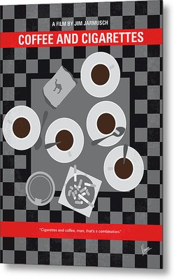 No808 My Coffee And Cigarettes Minimal Movie Poster Metal Print
