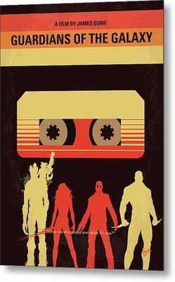 No812 My Guardians Of The Galaxy Minimal Movie Poster Metal Print