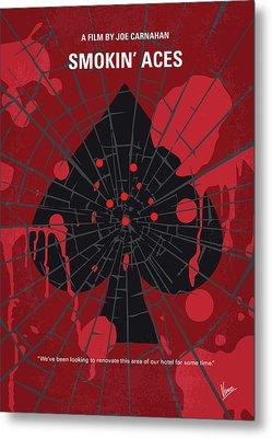 No820 My Smokin Aces Minimal Movie Poster Metal Print