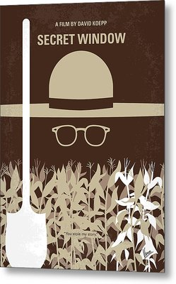 No830 My Secret Window Minimal Movie Poster Metal Print