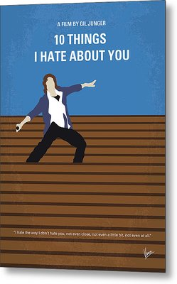 No850 My 10 Things I Hate About You Minimal Movie Poster Metal Print