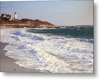 Nobska Point Seascape Metal Print by Roupen  Baker