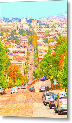 Noe Street San Francisco Metal Print by Wingsdomain Art and Photography