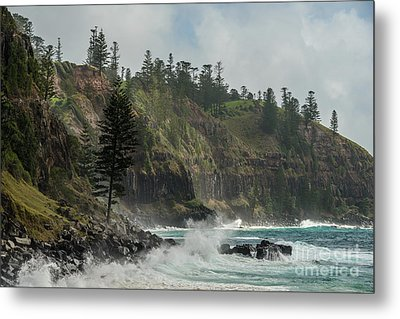 Metal Print featuring the photograph Norfolk Island Coastline 01 by Werner Padarin