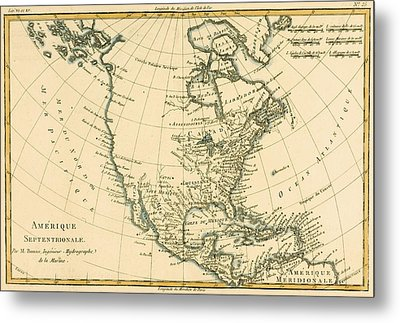 North America Metal Print by CMR Bonne