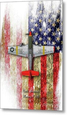 North American Mustang P-51b Metal Print