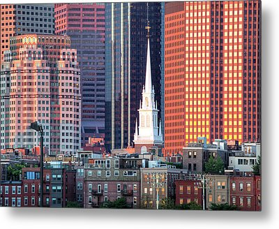 North Church Steeple Metal Print by Susan Cole Kelly