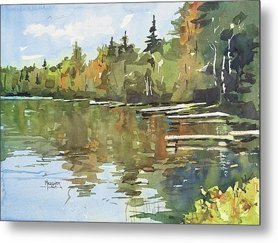 North Country Reflections Metal Print by Spencer Meagher
