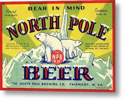 North Pole Beer Metal Print