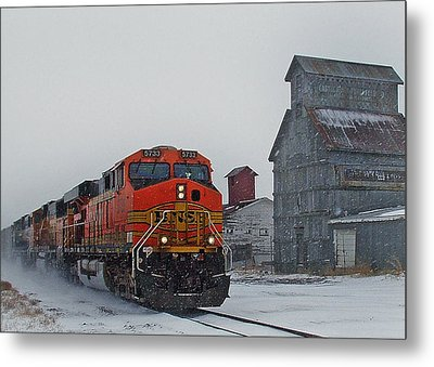 Northbound Winter Coal Drag Metal Print by Ken Smith