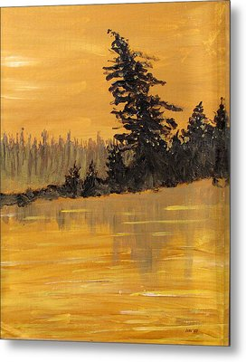 Metal Print featuring the painting Northern Ontario Three by Ian  MacDonald