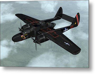 Northrop P-61 Black Widow Metal Print by Walter Colvin
