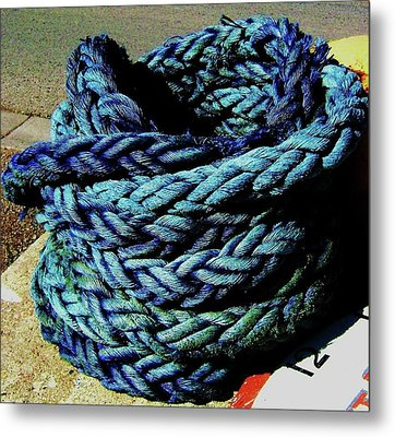 Metal Print featuring the photograph Not A Knot by Cyryn Fyrcyd