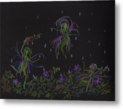 Metal Print featuring the drawing Not Exactly Weather Wanted by Dawn Fairies