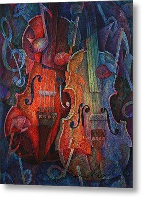 Noteworthy - A Viola Duo Metal Print by Susanne Clark