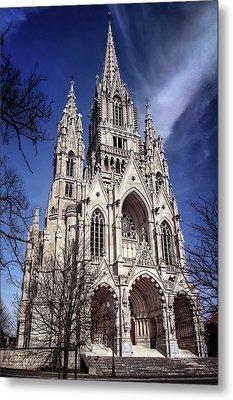 Notre Dame De Laeken In Brussels  Metal Print