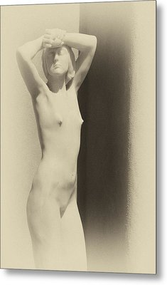 Nude Metal Print by Carolyn Dalessandro