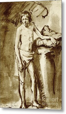 Nude Drawing For A Youth Metal Print