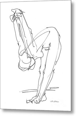 Nude Female Drawings 10 Metal Print