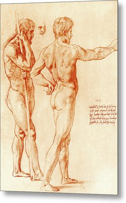 Nude Study Of Two Warriors Metal Print