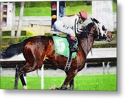 Number Five Horse Metal Print by Clarence Alford