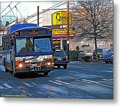 Number Ten Bus Metal Print
