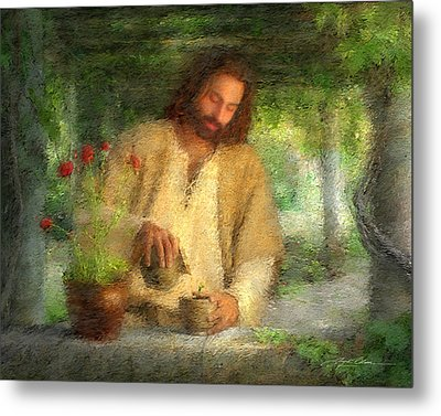 Nurtured By The Word Metal Print by Greg Olsen