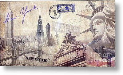Ny City Metal Print by Jon Neidert