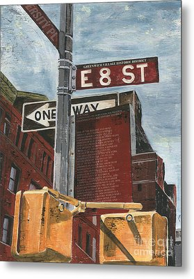 Nyc 8th Street Metal Print