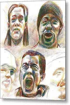 Metal Print featuring the drawing Nyc Expressions by Al Goldfarb