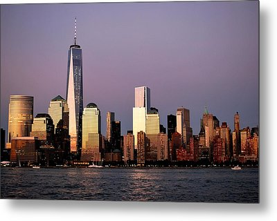 Nyc Skyline At Dusk Metal Print